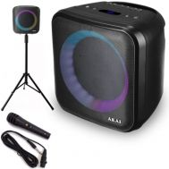 Akai ABTS-S6 Φορητό ηχείο Bluetooth karaoke με τρίποδο, USB, TWS, LED, micro SD, Aux-In, Aux-Out και ενσ. μικρόφωνο – 20 W | Karaoke - Party Speakers στο smart-tech.gr