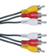 POWERTECH Καλώδιο 3x RCA Male σε 3x RCA Male (red, white, yellow), 3m | Καλώδια στο smart-tech.gr
