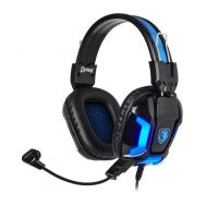 SADES Gaming Headset Element SA-702-BL, blue LED, 3.5mm, 40mm ακουστικά | HEADSETS στο smart-tech.gr